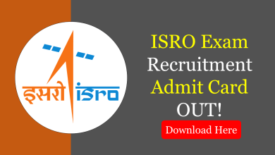 ISRO Exam 2020 Admit Card