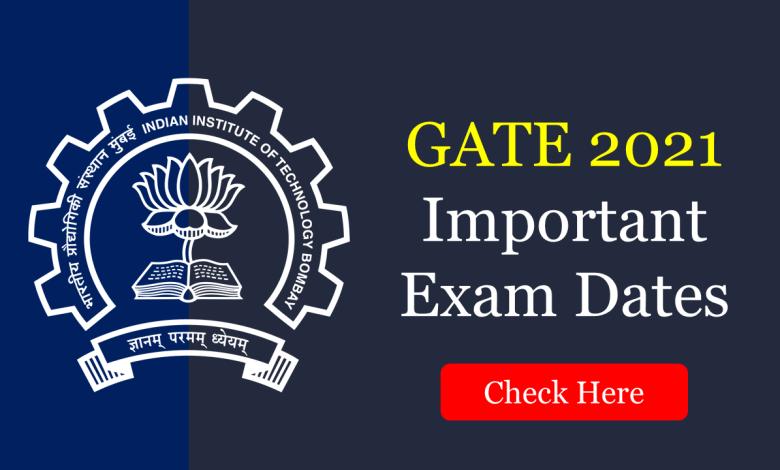 GATE 2021 Important Exam Dates