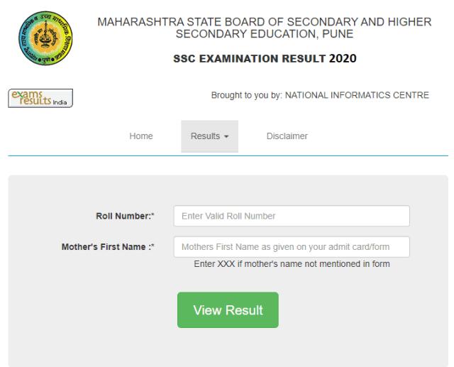 Maharashtra SSC Result 2020