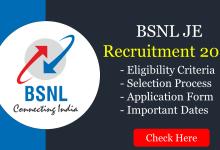 BSNL JE 2021