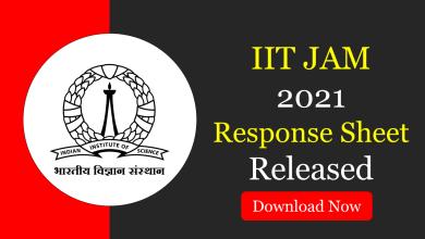 IIT JAM 2021 Response Sheet
