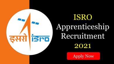 ISRO Apprenticeship Recruitment 2021
