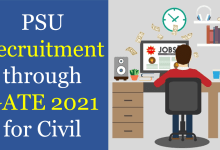 psu recruitment through gate 2021 for civil