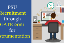 Photo of PSU Recruitment through GATE 2021 for Instrumentation