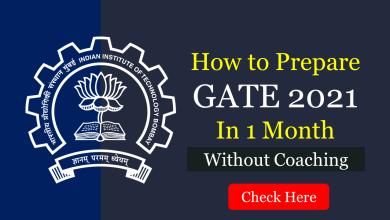 Prepare for GATE 2021 in 1 month