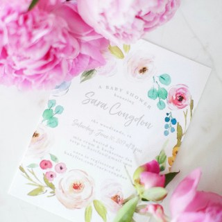 A Pink & Peony Baby Shower