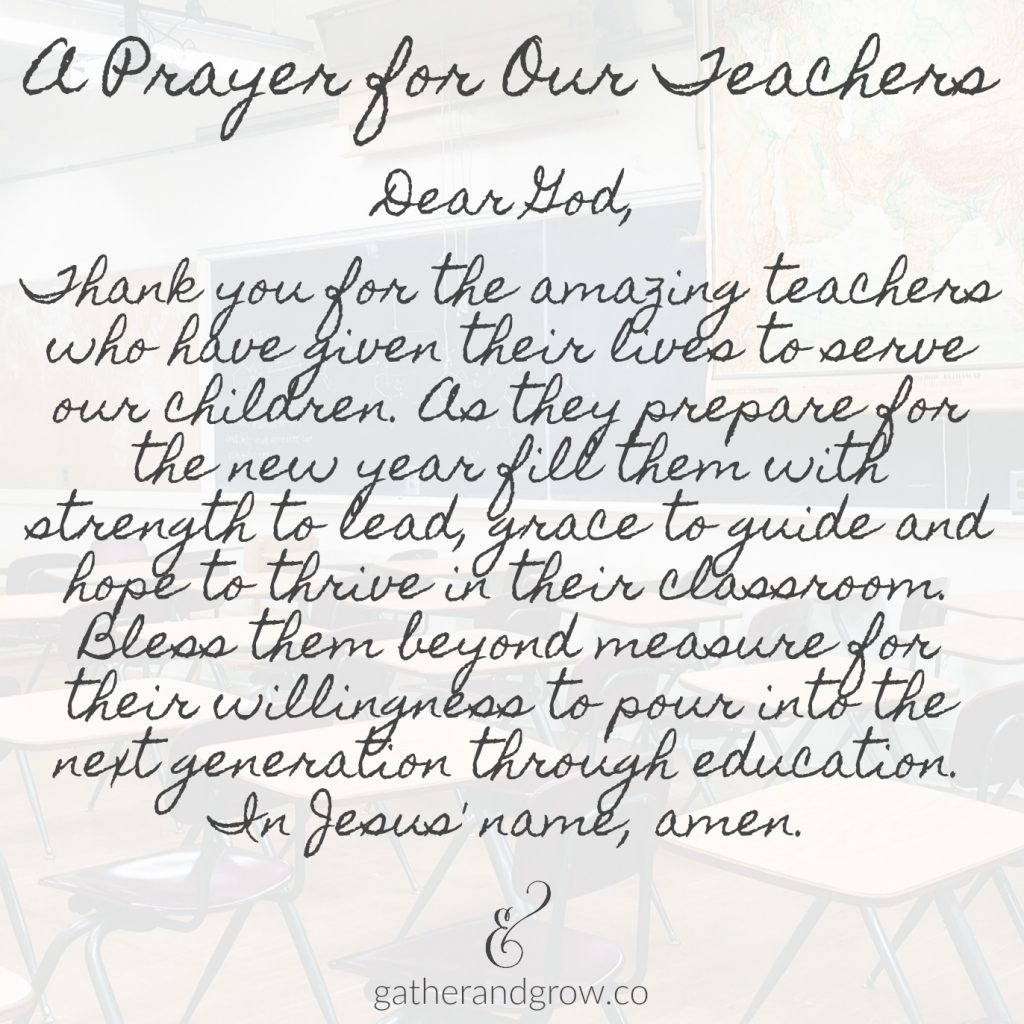 A Back to School Prayer for Teachers and Students » Gather