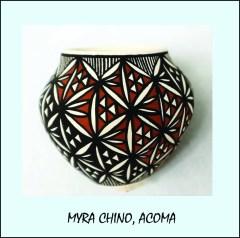 Myra Chino, Acoma Pottery