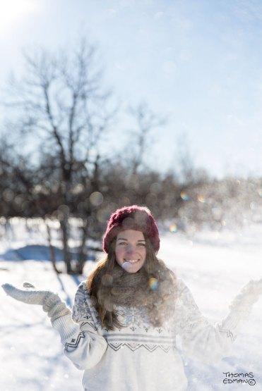 Vinterporträtt snöyra