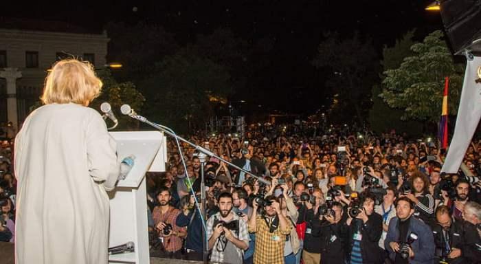 Manuela Carmena en la noche del 24-M. Autora: Myriam Navas