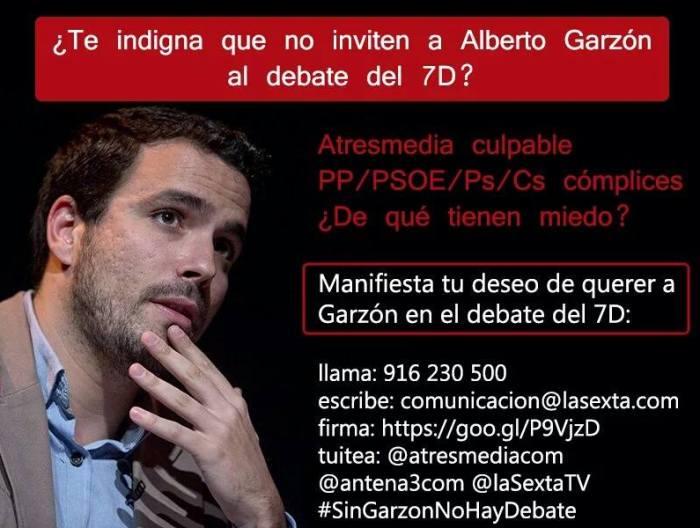 apoyo a Alberto Garzón