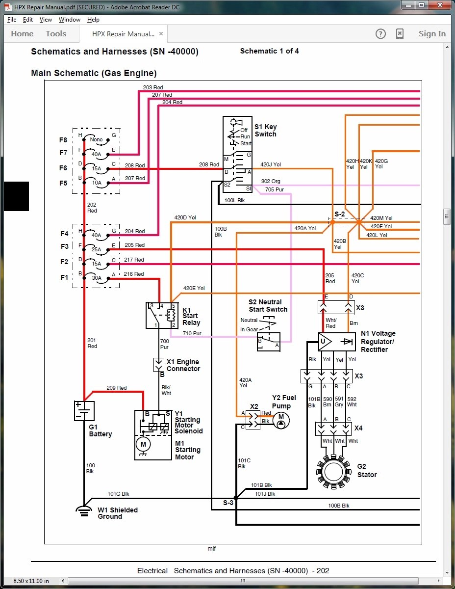 horn relay diagram wiring of single phase motor help with hpx blown fuse - john deere gator forums