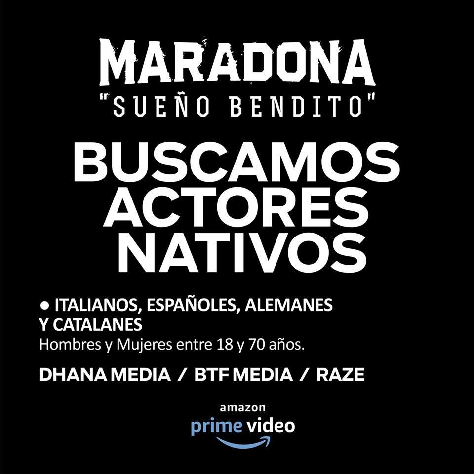 offerta lavoro buenos aires casting serie amazon maradona