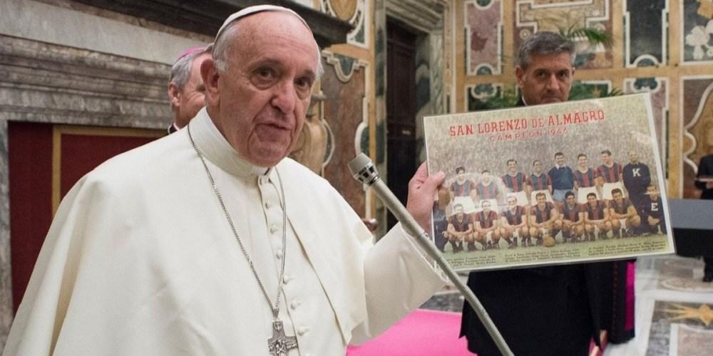 papa francesco stadio san lorenzo buenos aires