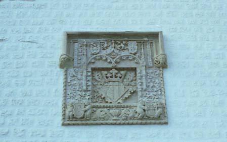 escut darmes (zigzagat?) al Museu Maricel de Sitges
