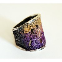 Modernist Enamel Ring - Gaudi Barcelona Shop
