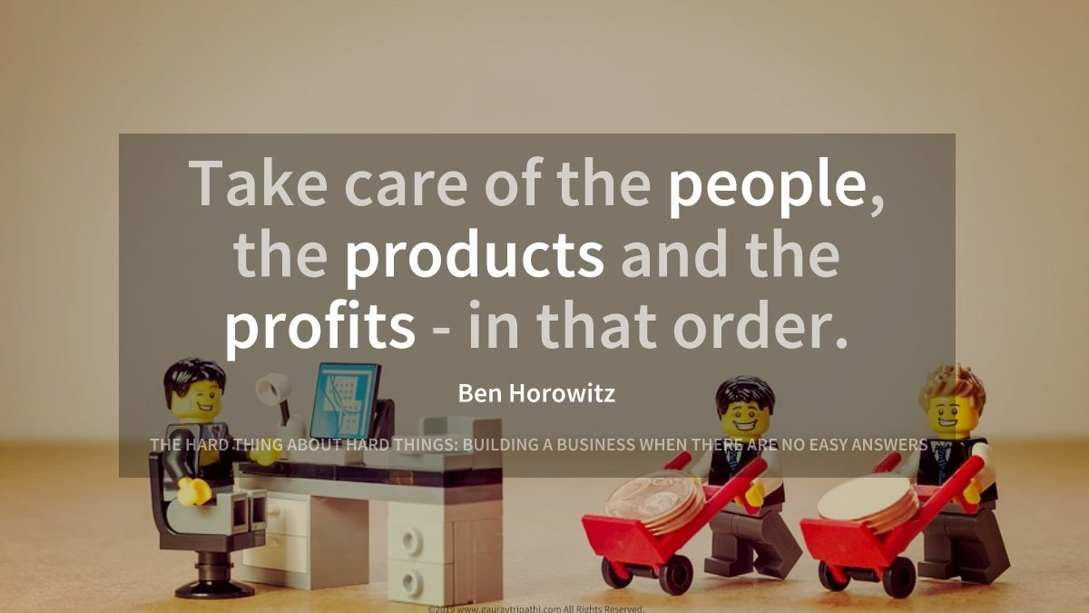People, products and profits – order matters