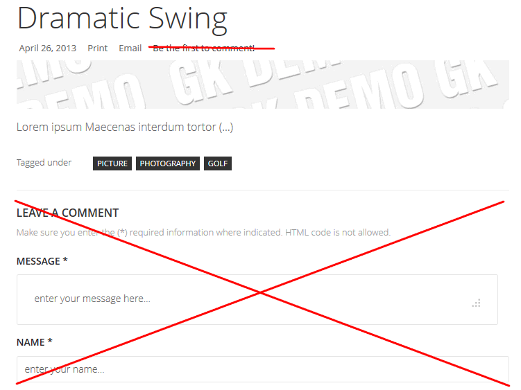 How to remove comments on selected K2 extension items