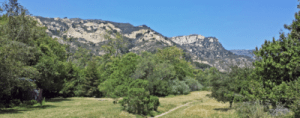 color photo of mountains at Arroyo Hondo Preserve
