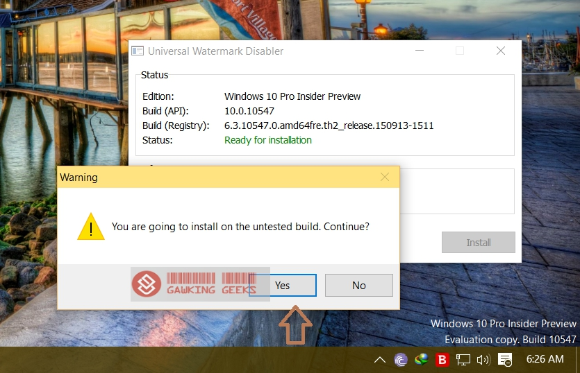 How to remove watermark from Windows 10 Preview builds