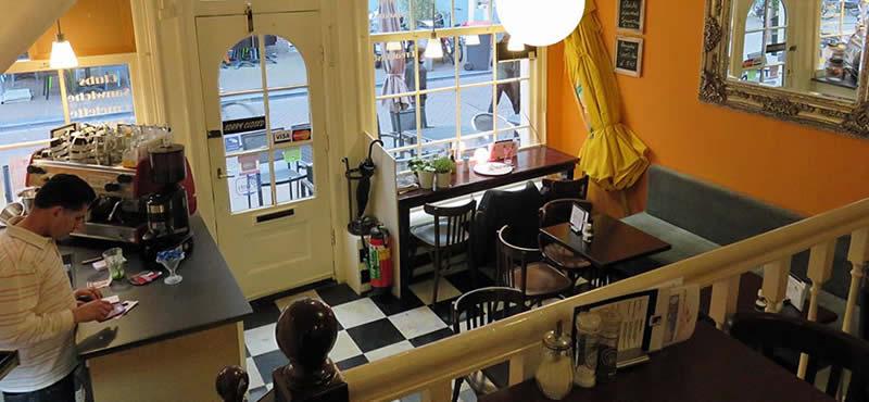Downtown gay cafe bar