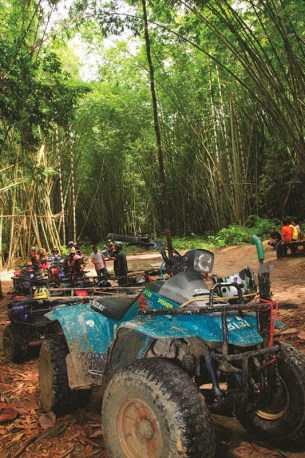 All-Terrain Vehicle (ATV) is a must try activity and you are expected to have an ecstatic moment while riding the four-wheeled motorbike.