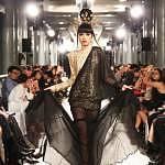 Limkokwing signature dress - model Jessica Minh Anh - photo John Oakley