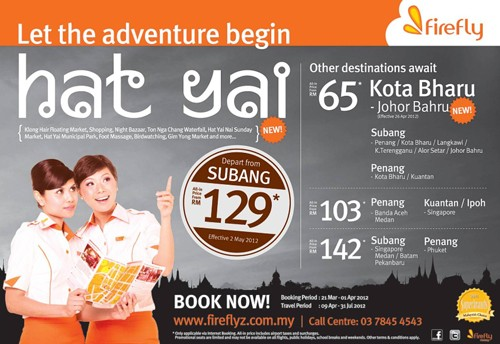 Newest route between Subang and Hat Yai