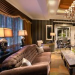 The living room of the Presidential Suite epitomizes the sense of luxury