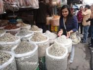 Variety of dried seafood at Tanjung Pinang Market