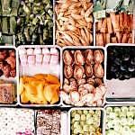 Many varieties of food at Pasar Siti Khadijah