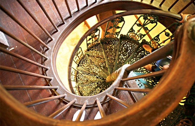 Beautiful staircase in Istana Jahar, home of Royal Customs Museum