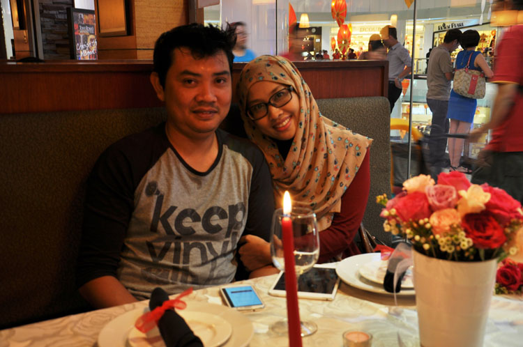Arlina Abu Bakar with Parner Mohd Azli
