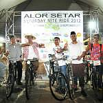 Participants dress up for the Alor Setar Nite Fun Ride