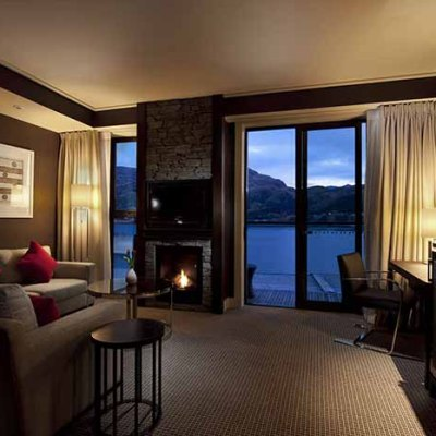 Relax by the fire in your room after a day on the slopes