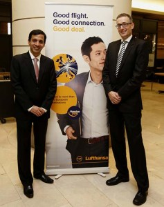 Paurus Nekoo, General Manager Malaysia, Lufthansa German Airlines (left) with Dr. Christian Altmann, Regional Director, Lufthansa Passenger Airlines Singapore Southeast Asia and the Pacific (right) at the announcement of Lufthansa's exceptional fares from Malaysia to Europe in celebration of the new direct flight from Kuala Lumpur to Frankfurt. Mr. Nekoo is the new General Manager Malaysia of Lufthansa German Airlines