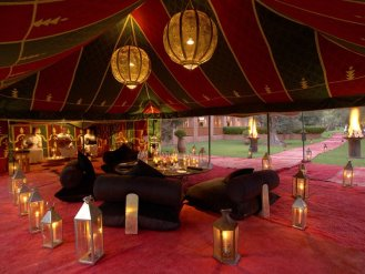 Amanjena's traditional Caidal Tent is set in an olive grove and offers a romantic venue for private dinners accompanied by local music.