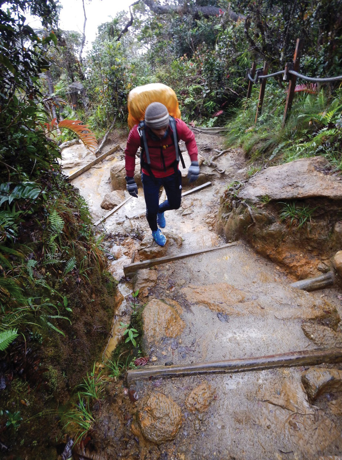 Backpacking in Sabah - We continued our climb and the route started to become rockier.