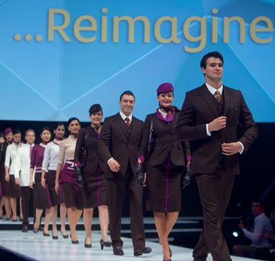 Etihad - Fashion - Etihad Airways hosted a fashion show to launch its new cabin crew uniform