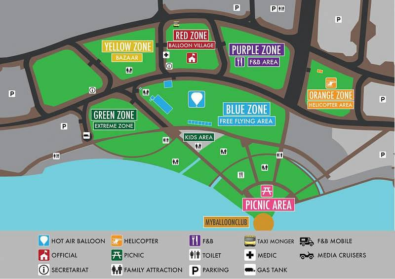 Layout The 7th Putrajaya International Hot Air Balloon Fiesta 2015