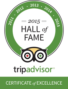 TripAdvisor Hall of Fame 2015 logo