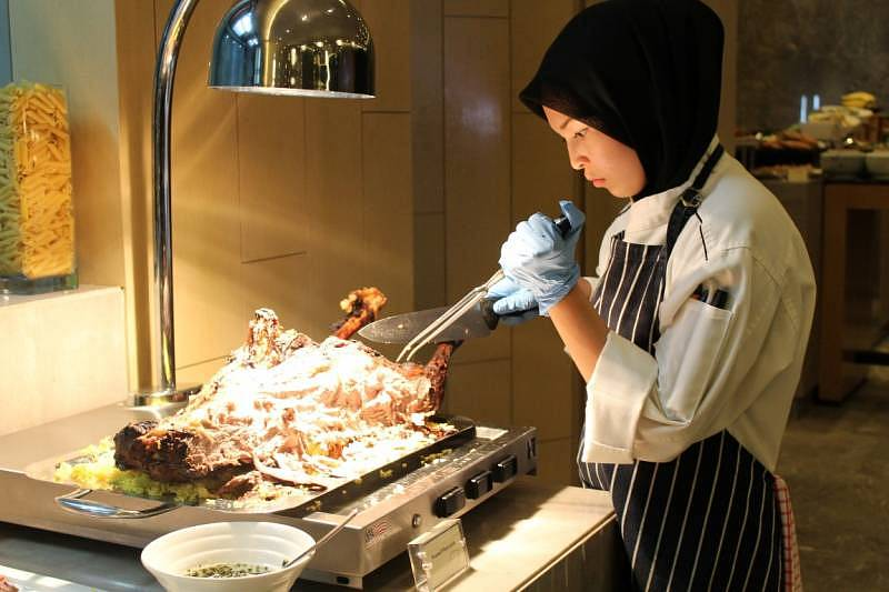 "Lamb station at Relish's ""Seribu Satu Malam"" buffet"