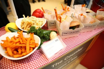 'The Counter' displaying their gourmet burgers at Pavilion Kuala Lumpur's launch of Journey of Taste.