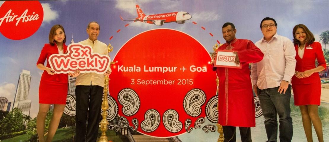 AirAsia celebrates commencement of Kuala Lumpur – Goa direct flights
