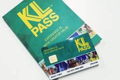 KL PASS card and guide book.