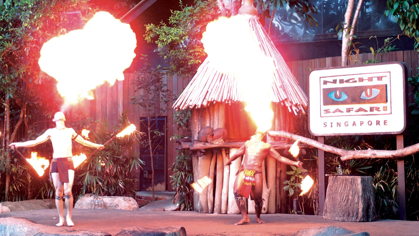 Fire eating performance by Thumbuakar tribal dancers