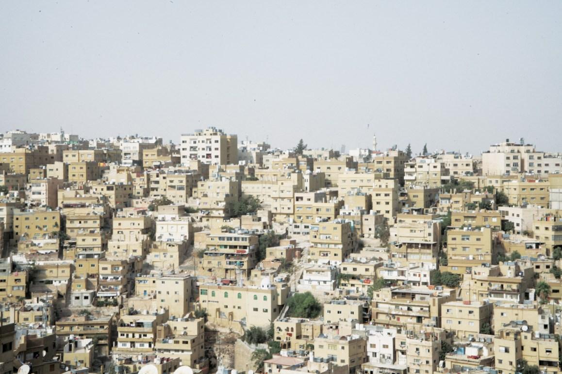 Buildings jostling for space in Amman