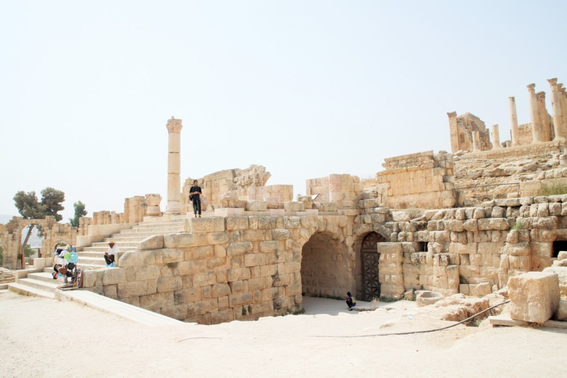 Part of the splendid ruins in Jerash