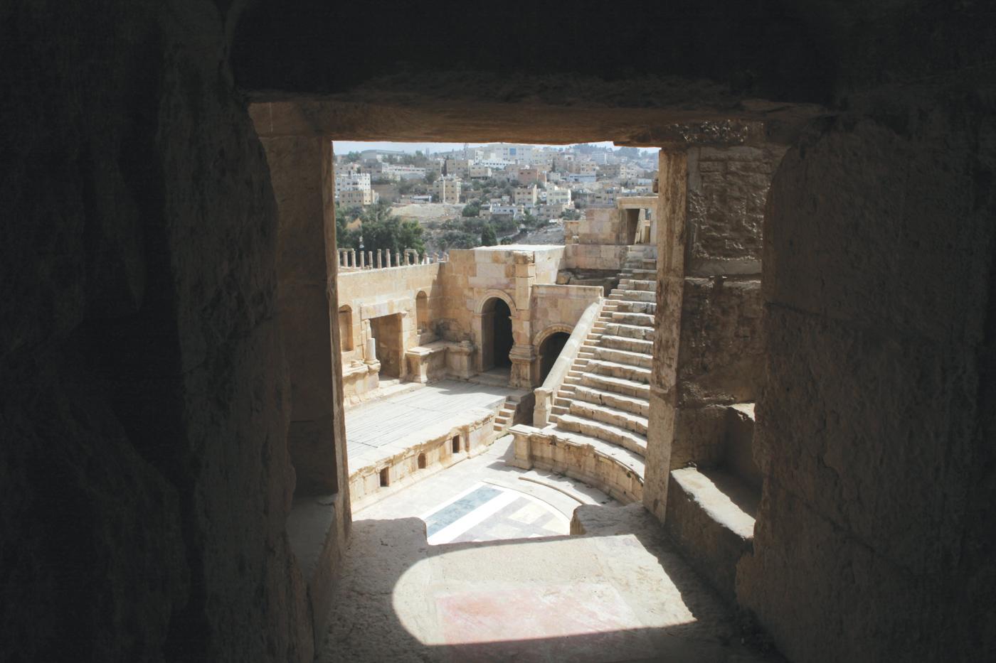 A Roman amphitheater in Jerash