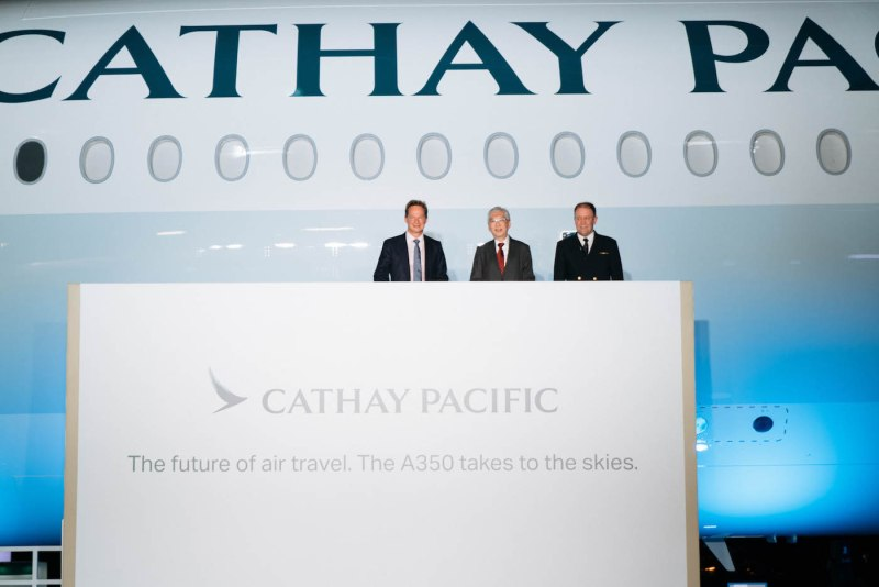 Cathay Pacific's first A350 arrives in Hong Kong